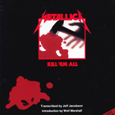 Cherry Lane Music  Metallica Kill 'em All Sheet Music Book - With Tablature 1990