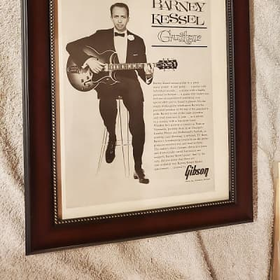 1961 Gibson Guitars Promotional Ad Framed Barney Kessel Original