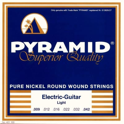 Pyramid Electric Pure Nickel Round Wound Strings 09-42