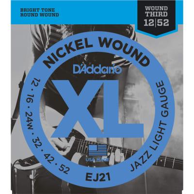 D'Addario EJ21 Nickel Wound Jazz Light 12-52