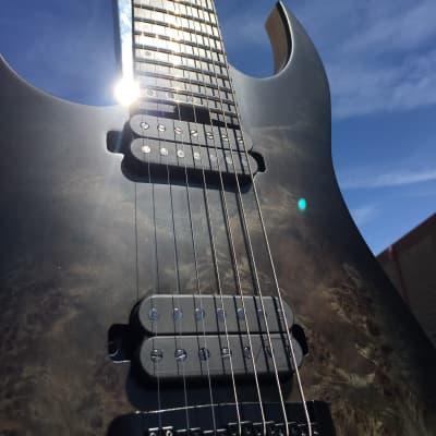 2019 Schecter DIAMOND SERIES KM-7 MK-III Artist Trans Black Burst Left-Handed 7-String for sale