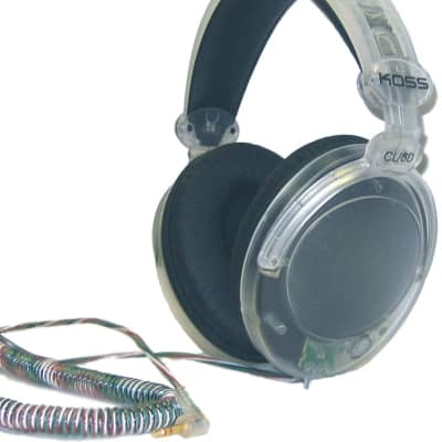 Koss CL-80 Clear Stereo Headphones with Large Ear Cushions - #179582 - 6FT CORD