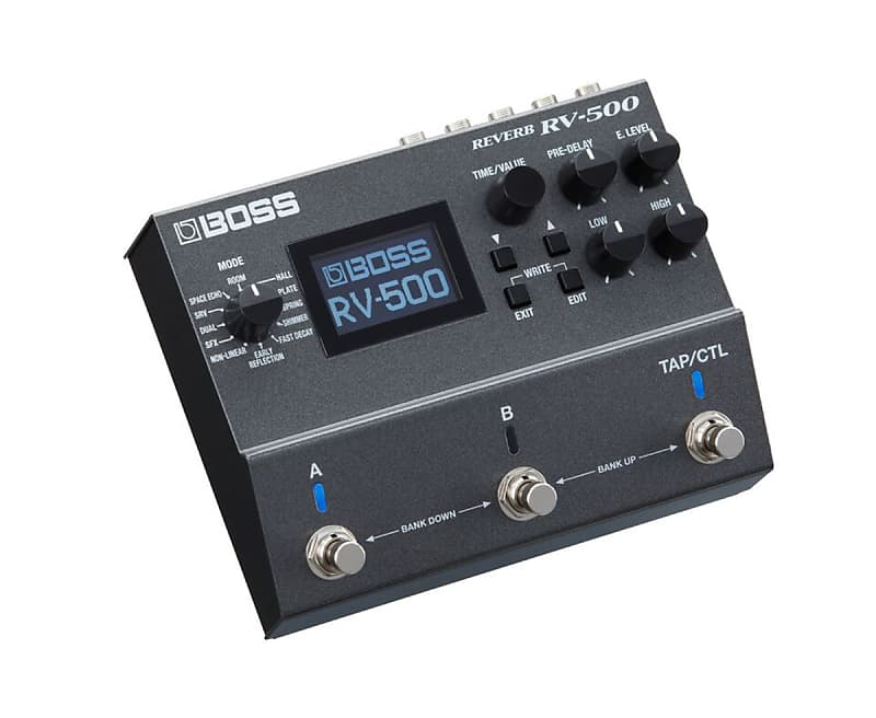 boss rv 500 reverb effects pedal used proaudiostar reverb. Black Bedroom Furniture Sets. Home Design Ideas