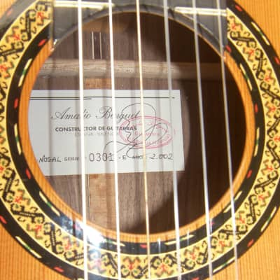 Amalio Burguet Nogal 2002  solid Spruce Walnut with an Cedar Top Excl. cond 655 Scale 52 nut HS Case for sale