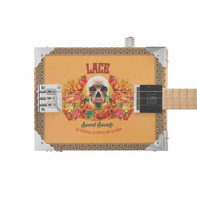 Lace Electric Cigar Box Guitar 2019 secret society 4 string for sale