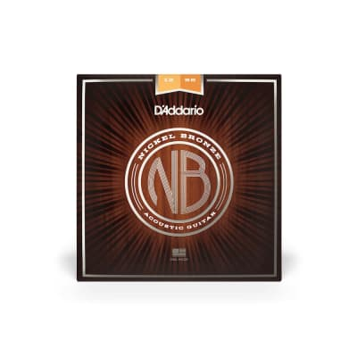 D'addario NB1256 Nickel Bronze Acoustic Guitar Strings
