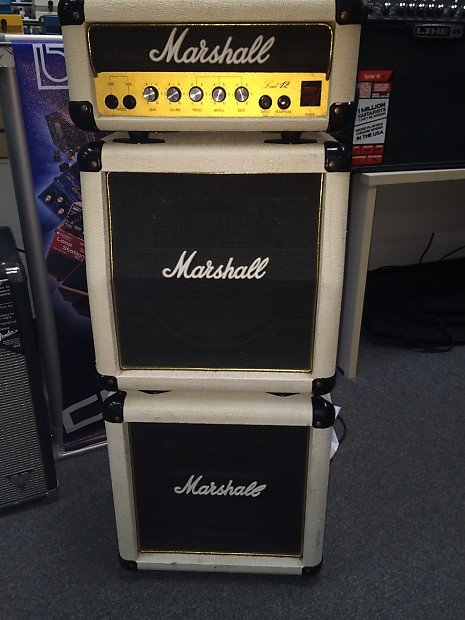 marshall lead 12 mini stack 1980 39 s washed up white reverb. Black Bedroom Furniture Sets. Home Design Ideas