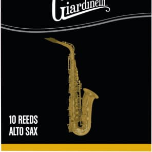 Giardinelli GAS3-10 Alto Saxophone Reeds - 3 Strength (10-Pack)
