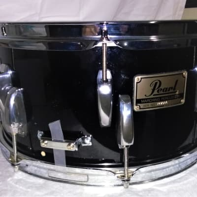 """Pearl Marching Tom TURNED 14"""" X 7"""" SNARE DRUM  Piano Black Wrap"""