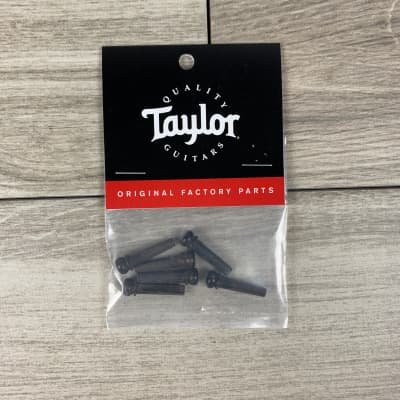 Taylor Ebony Bridge Pins, 6-Pack