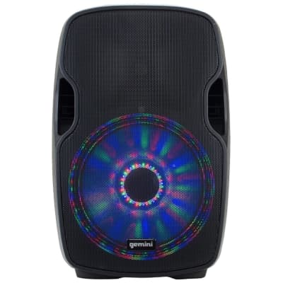 "Gemini AS-15BLU-LT 2-Way Powered 15"" Bluetooth PA Speaker with LED"