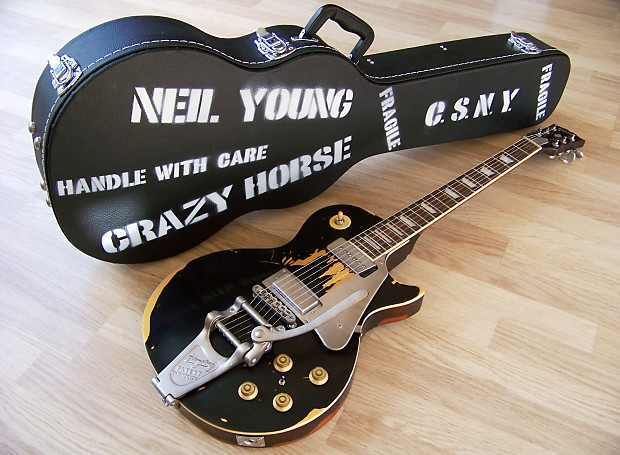 black young Old guitar neil