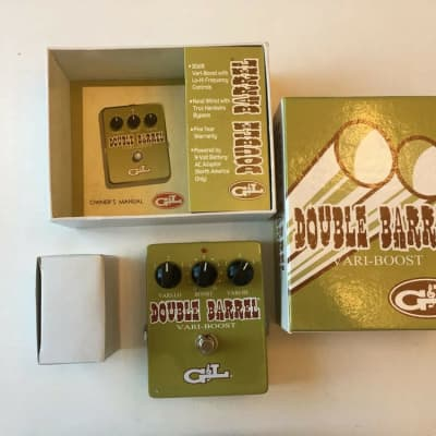 G&L Double Barrel Vari-Boost Booster Equalizer EQ Guitar Effect Pedal + Box