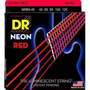 DR NRB5-45 Neon Hi-Def 5-String Electric Bass Strings - Medium (45-125)