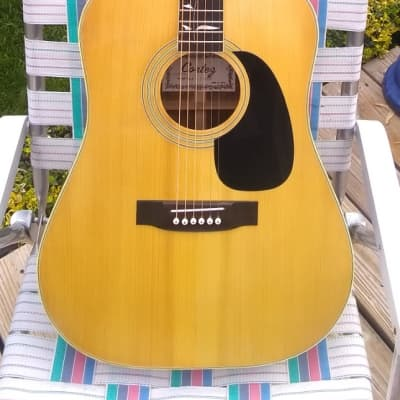Rare Japan Made 1970's Cortez J-7000 Acoustic Guitar With Tree Of Life for sale