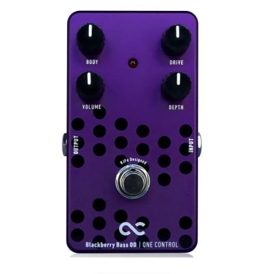 One Control Blackberry Bass Overdrive Bass True Bypass Guitar Effects Pedal for sale