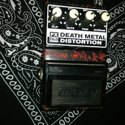 DOD FX-86B Death Metal Distortion 90's Black And Red for sale