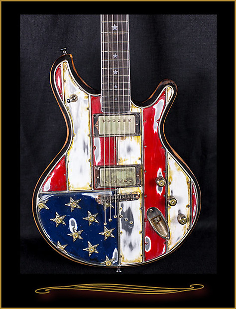mcswain guitars red white and bullets american flag sm 1 reverb. Black Bedroom Furniture Sets. Home Design Ideas