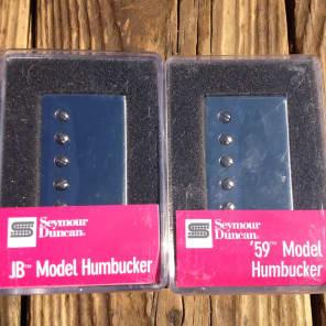 Seymour Duncan SH-4 JB Bridge & SH-1N 59 Neck 4 Conductor NICKEL Pickup Set