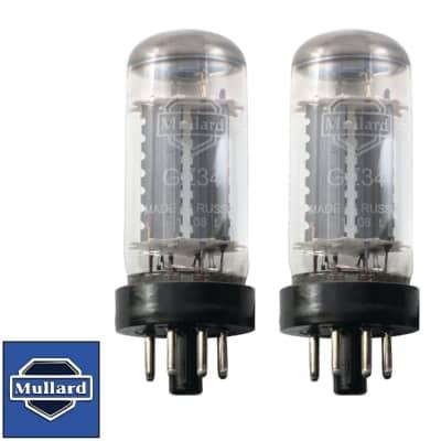 Brand New Matched Pair (2) Mullard Reissue GZ34 / 5AR4 Vacuum Tubes