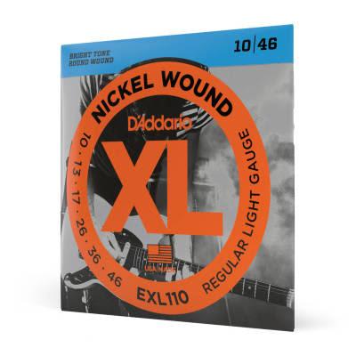 D'Addario EXL110 Nickel Wound Regular Light Electric Guitar Strings, 10-46 Nickel
