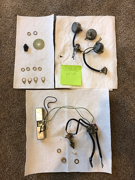 gibson vintage es 345 wiring harness varitone parts reverb. Black Bedroom Furniture Sets. Home Design Ideas