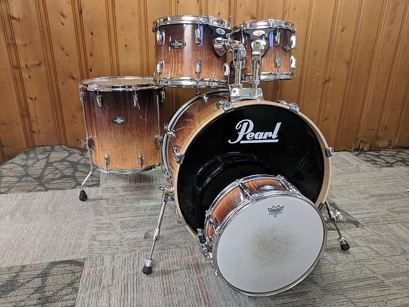 pearl vision 5 piece drum set dan 39 s drums des moines reverb. Black Bedroom Furniture Sets. Home Design Ideas