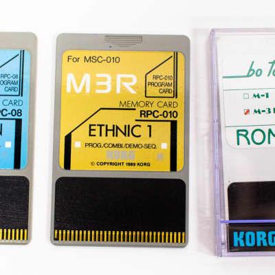 Korg M3R Memory & Rom Program Cards RPC-08 Percussion / RPC-10 Ethnic / Volume 4