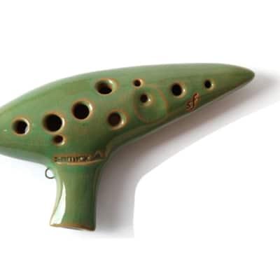 Samick OSF-1 Ocarina Soprano F Key Wind Instrument Jade Green for sale