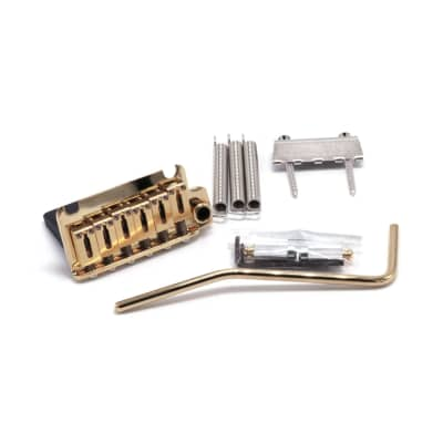 Gotoh GOTOH 510T-FE1 Privot Tremolo Bridge 2 Points Vintage Style Electric Guitar Bridge - Gold for sale
