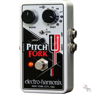 Electro-Harmonix Pitch Fork Harmonizing Pitch Shifter Guitar Effects Pedal with