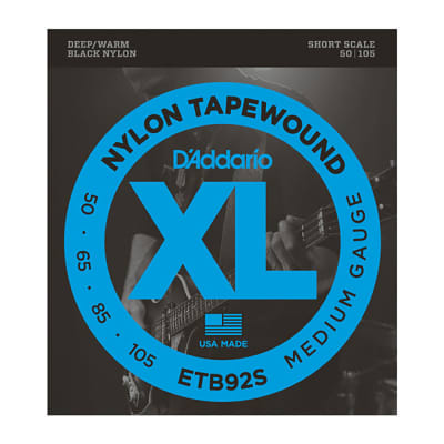 Daddario Black Nylon Tapewound Short Scale Bass Strings