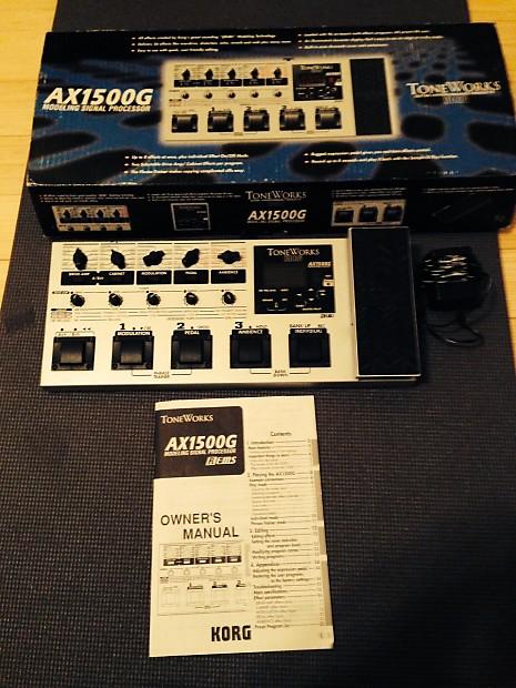 korg toneworks ax1500g guitar multi effects pedal reverb. Black Bedroom Furniture Sets. Home Design Ideas