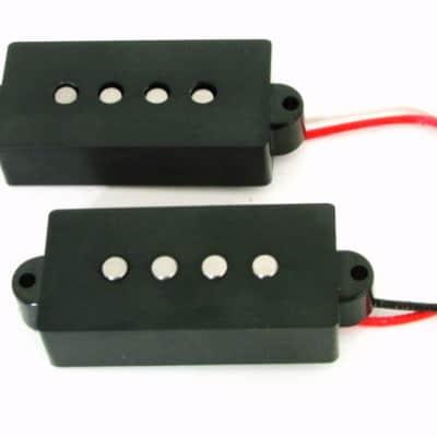 Artec P Bass Bridge Pickup Set 4-String Black,Alnico5