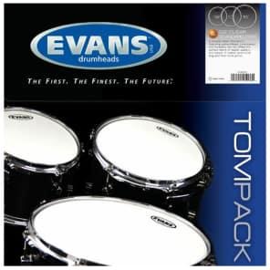 Evans G2 Series ETPG2CLRS Two Ply Standard Tom Pack Clear Drumhead Drum Head