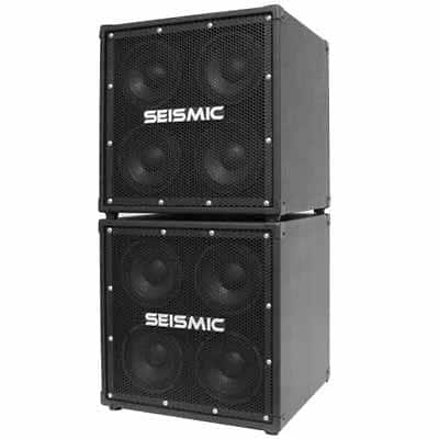 seismic audio pair of 4x6 bass guitar speaker cabinets reverb. Black Bedroom Furniture Sets. Home Design Ideas