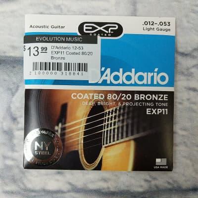 D'Addario 12-53 EXP11 Coated 80/20 Bronze