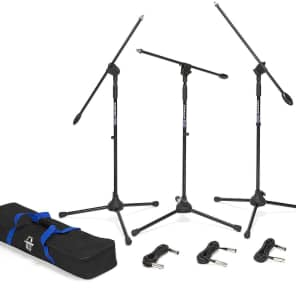 Samson BL3VP Ultra-Light Boom Mic Stand (3 Pack) w/ Cables and Bag