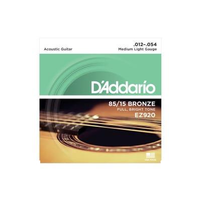 D´Addario EZ-920 Bronze Acoustic Strings 12-54