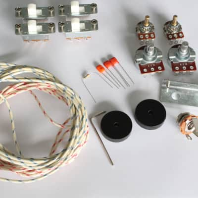 New Wiring Kit,for Jaguar custom,Pots,White Slide Switch,bracket,rollder knob,Capacitor,Wire,with 56K Resistor