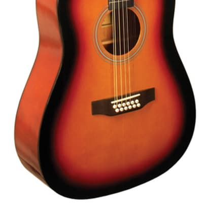 Indiana S-SCOUT-12-TB Scout 12-String  Acoustic Guitar Limited Edition w/Gig Bag - Tobacco Burst