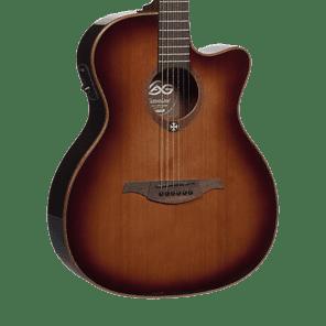 Lag T100ACE-BRS Tramontane Acoustic-Electric Guitar Brown Sunburst