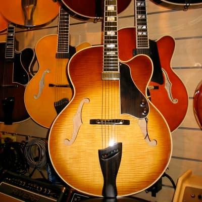 Napolitano Jazz Box 1999 Sunburst Archtop Guitar with case for sale
