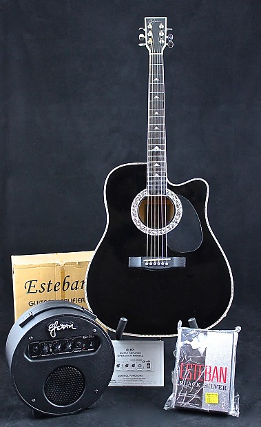 VERY RARE LIMITED EDITION ESTEBAN SILVER HAT 2006 GUITAR PKG 196 MADE COLLECTOR