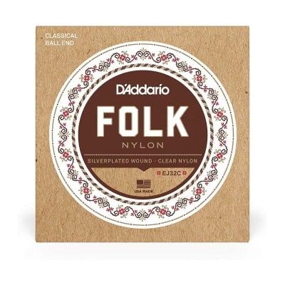 D'Addario EJ32C Folk Nylon Guitar Strings