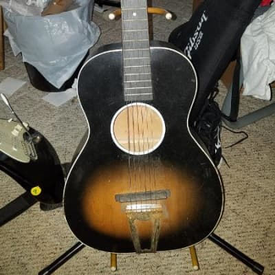 Jackson-Guldan Chris Adjustomatic 1950's  vintage parlor guitar tobacco sunburst Columbus Ohio for sale