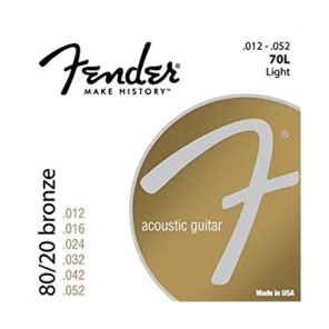 Fender 70L 80/20 Bronze Acoustic Guitar Strings - Light for sale