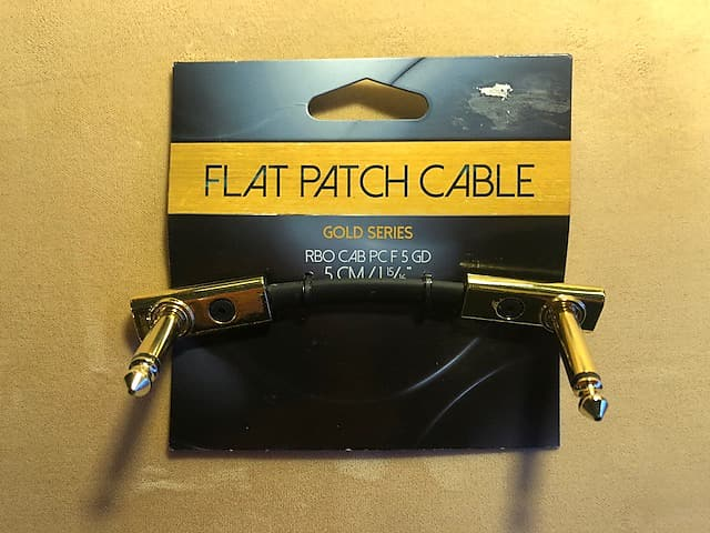 Rockboard Flat Gold Series Patch Ts Cable 1 97 Quot 5cm Reverb