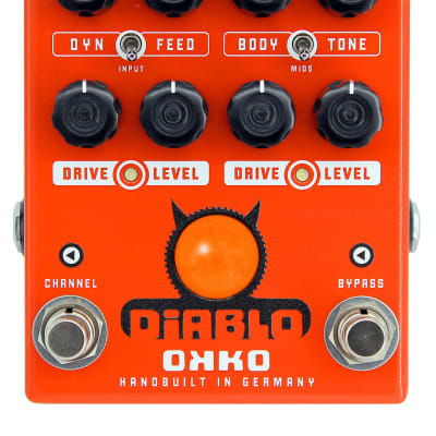 OKKO Diablo Dual Overdrive - Overdrive Pedal for sale