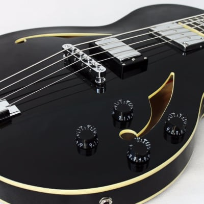 Italia Torino Semi-Hollow Bass Guitar in Black w/Softcase for sale
